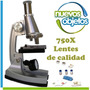 Microscopio Con Luz 750x Didáctico Galileo Lupa Garantía
