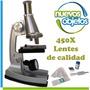 Microscopio 450x Didáctico Con Luz Galileo Con Garantía