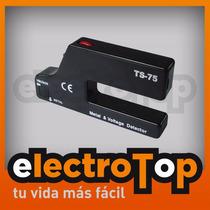 Detector De Metales Y Tensión 2 En 1 Indica Por Luz Y Sonido