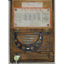 Micrómetro Starrett N° 224 Set A Reloj Comparador Usa