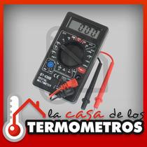 Multimetro Tester Digital Con Cables Y Bateria De 9v Dt-830b