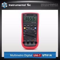 Multimetro Digitital Uni-t Ut61a Cap Frecuencia Ef Luz/fondo