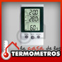 Termóhigrometro Digital Con Sensor In/out Temperatura Reloj
