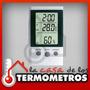 Termóhigrometro Digital Con Sensor In/out Temperatura Reloj