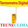 Termómetro Digital Mide De -50 A +300 Reloj Alarma Hecho Usa