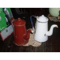 Antiguas 2 Cafeteras Enlozadas 1litro Leer (4440)