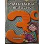 Libro Matematica En 3°. Editorial Santillana