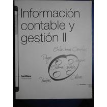 Información Contable Y Gestión 2 Santillana Perspectivas