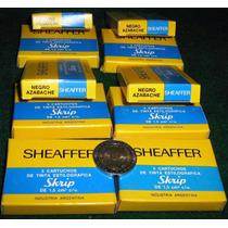 Sheaffer, 10 Cajas De Cartuchos. Negro Azabache