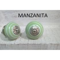 Tiradores Manijas De Ceramica Muebles Cajones