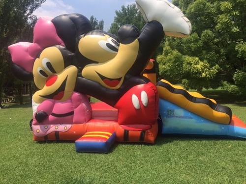 Tobagan Con Pileta, Tobogan Doble Inflable Mickey Y Minnie