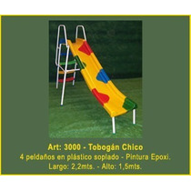 Juegos Plaza Tobogan Chico 4 Alt: 1.50 Mt. Largo: 2.2 Mf3000