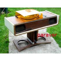 Muy Raro Combinado Mueble Diseño Retro Vintage Funciona Bien