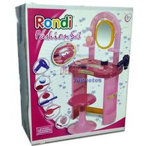 Rondi Fashion Set De Tocador Con Banquito Y Accesorios