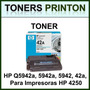 Toner Hp Q5942a, 5942a, 5942, 42a, Para Impresoras Hp 4250