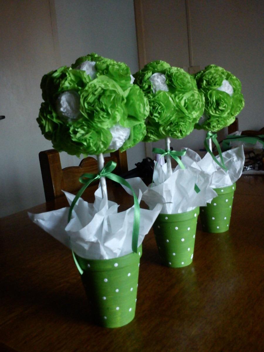 Centros de mesa topiarios flores papel seda mla f - Centros de mesa de papel ...