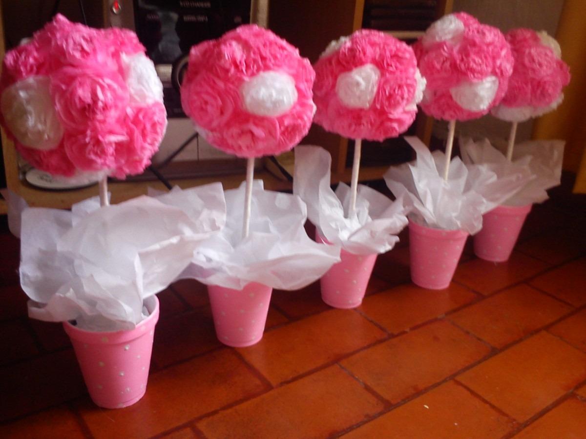 - Centros De Mesa Topiarios Flores De Papel De Seda Mla F 4147086477