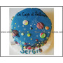 Torta Planetas-luna-estrellas