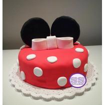 Torta Minnie - Ideal Para Cumpleaños Infantiles