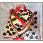Torta Corazón Chocolate C/rosa