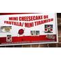 Mini Cheesecake Frutilla / Mini Tiramisu + Caja Decorada
