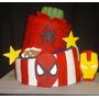 Torta Avengers Increible Hulk Super Heroes Spiderman Ironman