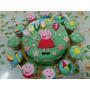 Torta De La Cerdita Peppa Pig De 2kg, Mas 12 Cupcakes!!!