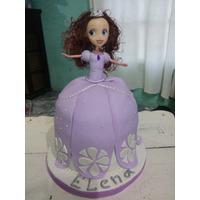 Torta Artesanal Forma Princesita Sofia , 4 Kg , Zona Sur!!
