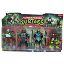 Tortugas Ninja Muñecos Articulados Gdes X 4 Modelos Surtidos