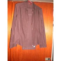 Traje De Mujer Yagmour - Camisa Y Pantalon - Chocolate