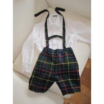 Conjunto: Pantalón Escocés + Camisa Alforzas T. 4