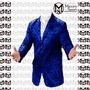 Saco Brocato Azul Entallados (ultima Moda) // Elegancia