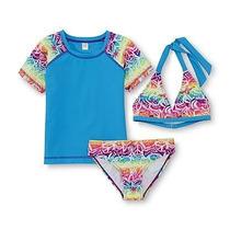 Traje De Baño Importado Niña Bikini Con Remera Para Agua