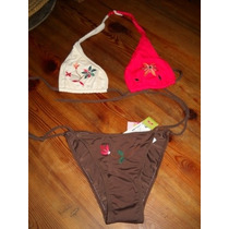 Bikini Marron Colorado Y Beige, De Cristobal Colon