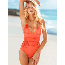 Malla Rosa Forever Sexy Ruched Halter One-piece - M