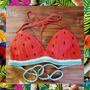 Bikini Al Crochet Sandía