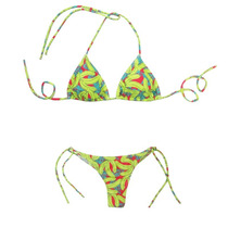 Bikini Triángulo Soft Desmon. Y Cola Less Banana Luz De Mar