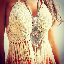 Bikini Top Crop Tejido Crochet