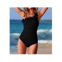 Malla Traje Baño Playa Tl Y Xl Espectacular Negra Divina