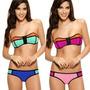 Bikini Bandeau & Strapless Neoprene Importado Mas Regalo!!