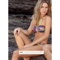 Liquidación Al Costo. Bikini Bando Estampada Marcela Koury.