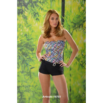 Mallas Enterizas Con Short -bicolor T 1 Y 4 Taza Soft $ 850