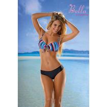 Bikini Taza Soft Multirayas Con Culotte Less