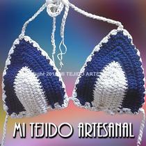 Corpiño Bikini Tejido Al Crochet - Verano 2015