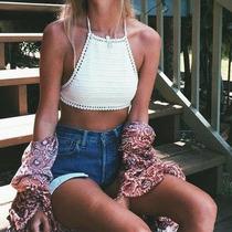 Bikini Top Crop Tejido Crochet A Mano Varios Modelos