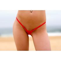 Tanga De Bikini En V De Malla Con Regulador Lycra Forrada