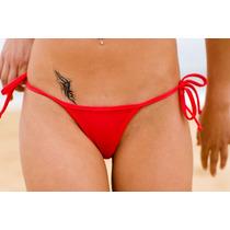 Tanga De Bikini En V De Malla Para Atar Lycra Forrada