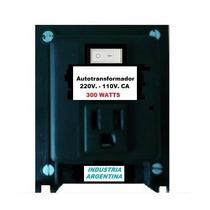 Autotransformador 220v. A 110v. Ca. Pot: 300 Watts.saavedra