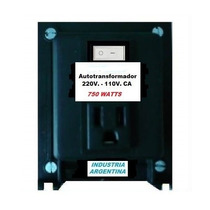 Autotransformador 220/110v. 750w.real Uso General Saavedra