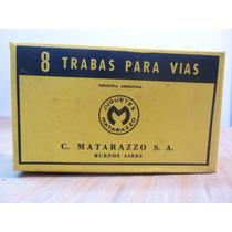 Caja X8 Trabas Para Vias Tren Matarazzo,chapa,nueva,antiguas